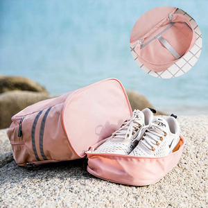 Image 3 - 独立した靴のバックパック服パッキングキューブトラベルオーガナイザーバッグ防水大容量学生バッグスクールポーチアクセサリー