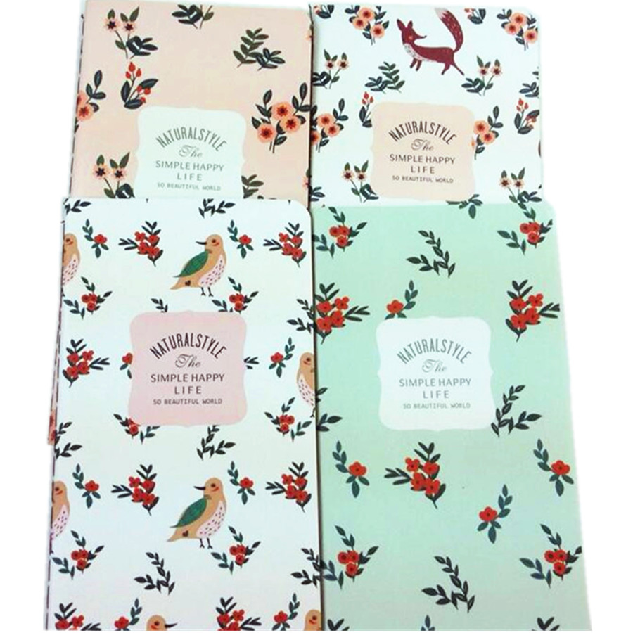 12pcs/lot Cute Vintage beautiful flower series notebook notepad Nice gift prize office school supply