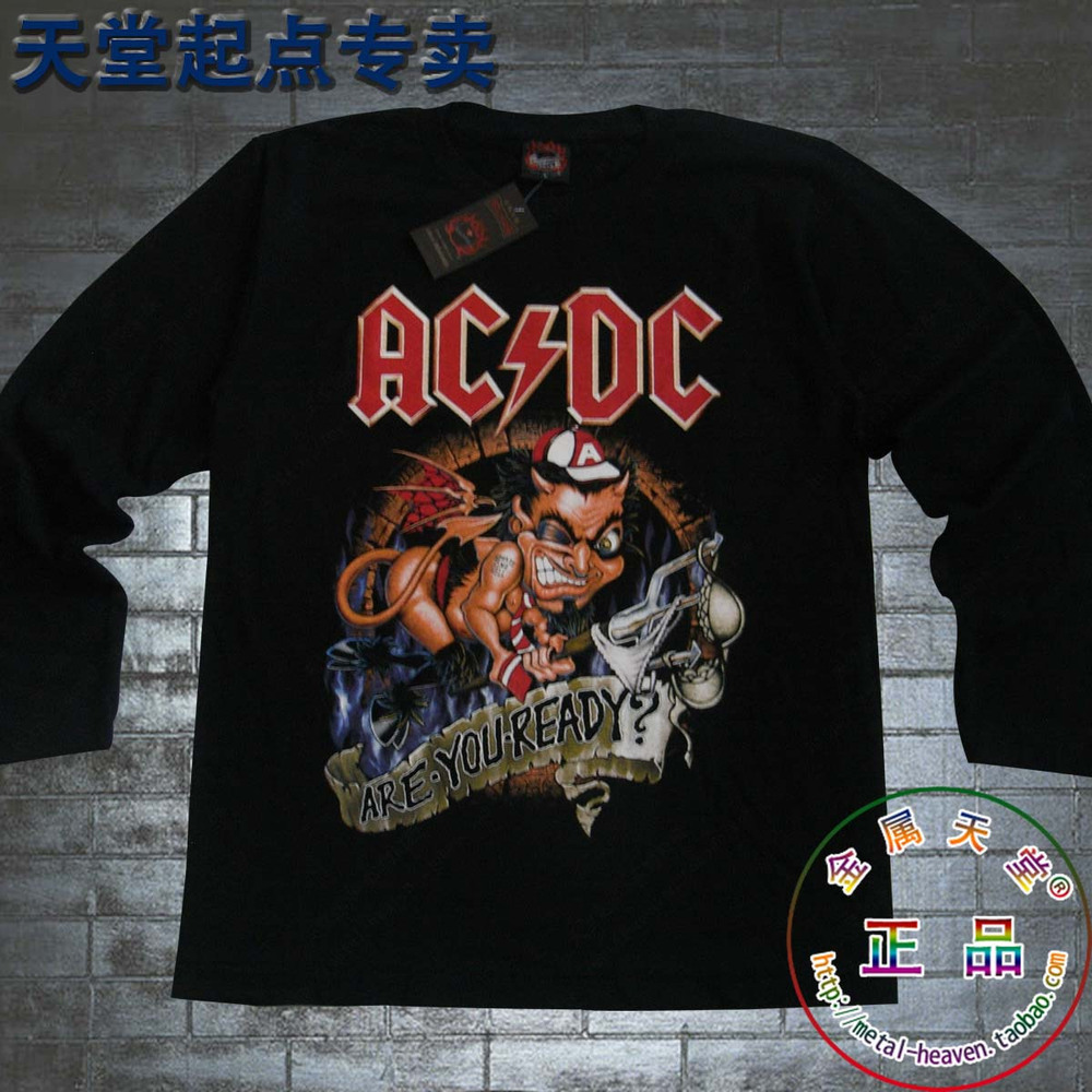 black male models long-sleeved T-shirt cotton fashion Sydney heavy metal  rock band AC   DC tee rock tshirt cffab2d284e30