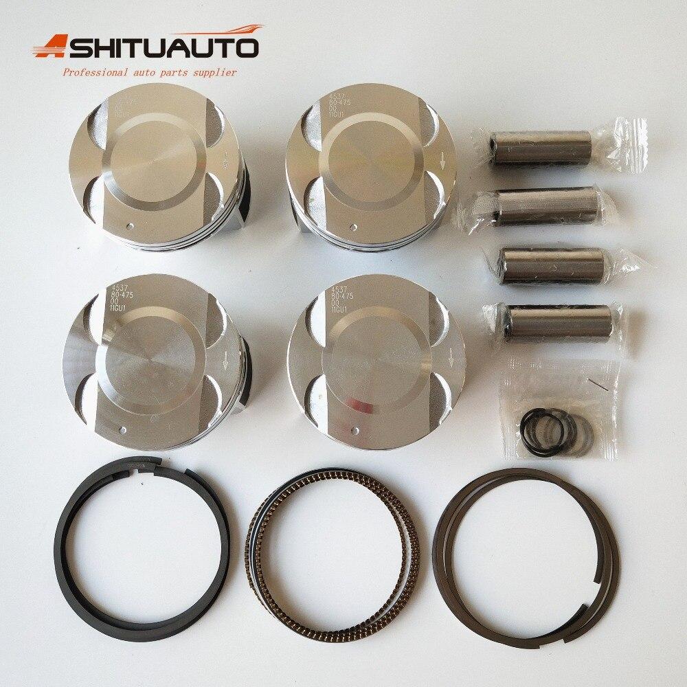 AshituAuto pistón de motor de alta calidad y anillo de pistón adecuado para Chevrolet Cruze 1,6 1,8 Epica 1,8 OEM 55574537 55561413