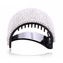 Elegant Hair Clip with White Crystals