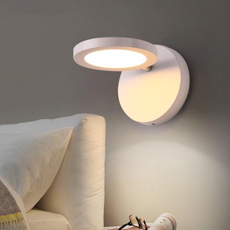 Rond rotatif LED applique murale LED chambre chevet applique murale allée escaliers salle de bain miroir lumière étude applique murale moderne applique