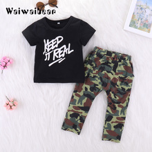 Children Summer Clothing Kids Casual Letter T-Shirt+ Pant 2Pcs/Set Boys And Girls Fashion Summer Sets new 2017 retail children set cartoon dusty plane fashion suit boys jeans sets t shirt pant 2pcs kids summer clothing