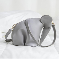 LACATTURA Mini Cute Animal Elephant Bag Chain Korean Style Women Students Shoulder Bag Messenger Bolsa For