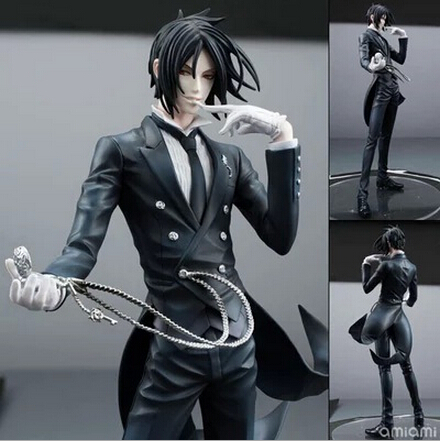 NEW hot 20cm Black Butler Sebastian Michaelis action figure toys collection christmas toy doll