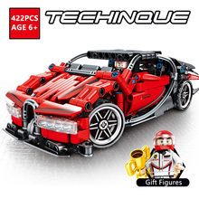 Technic BUGATTI CHIRON Racing Car Supercar Sports Car Pullback Building Blocks Sets Compatible LegoINGs Bricks Toys for Children(China)