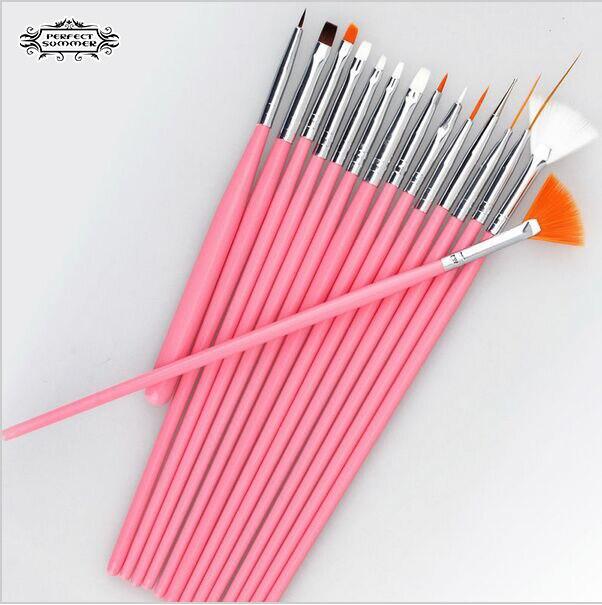 ⊰Gel Nail Polish Brush 1set/15Pcs Painting Pen professinal Nail Art ...