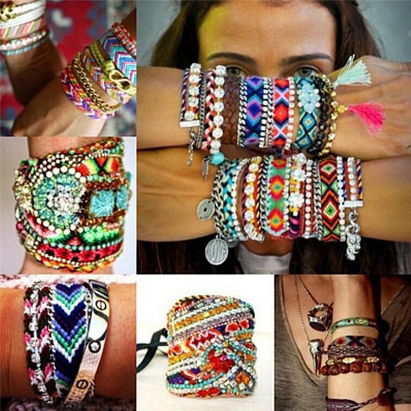 buy friendship bracelet personalized woven rope string hippy boho cotton. Black Bedroom Furniture Sets. Home Design Ideas