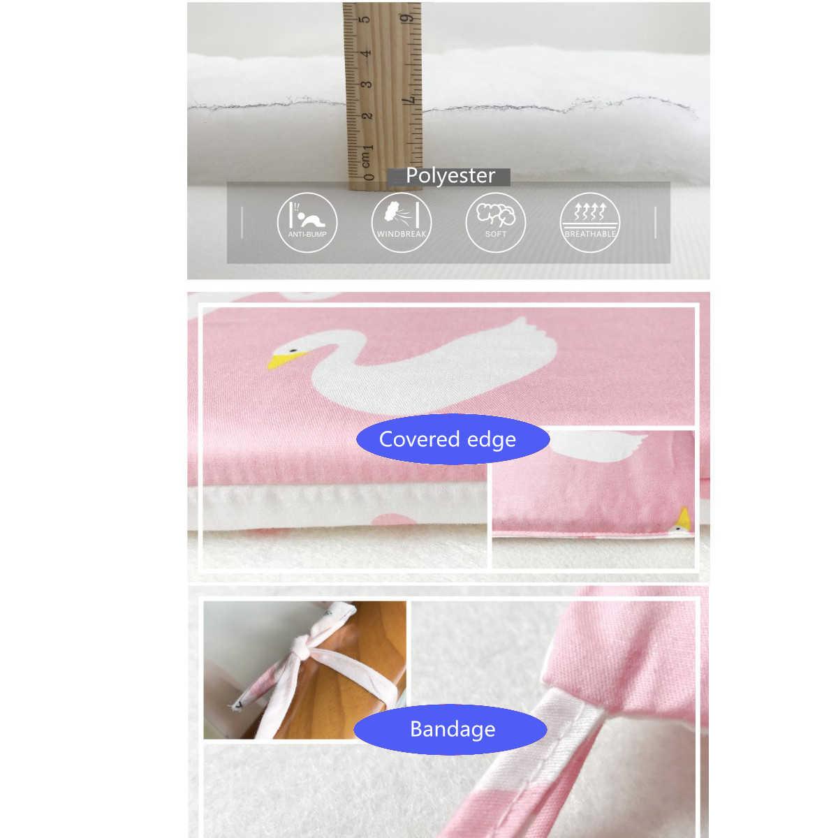 Новорожденных детская кровать бампер Мягкий хлопок младенческой кроватки Подушка Pad складной детский протектор детское постельное белье 5 цветов 120x60 см