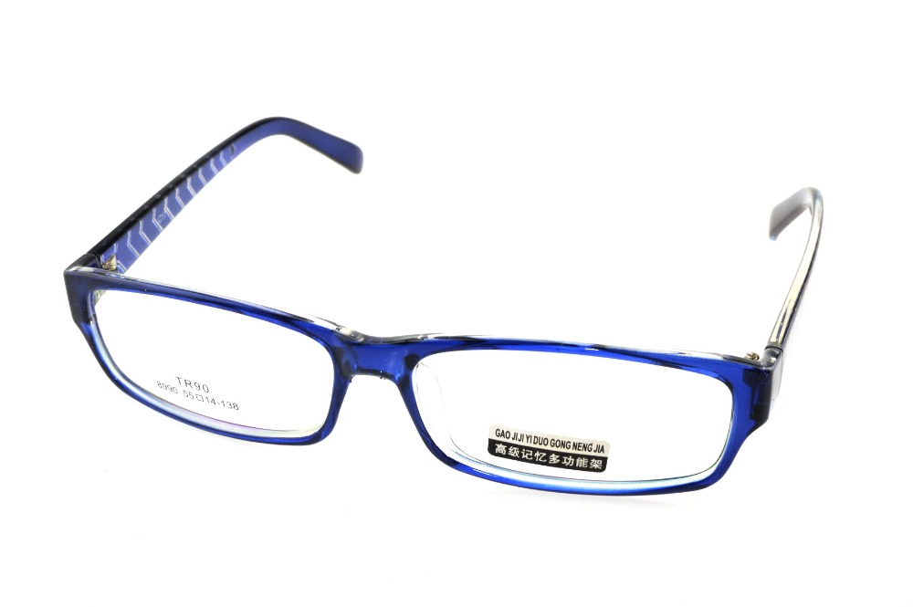 Designer Narrow Blue Eyeglasses Frame Full Rim Optical Custom Made ...