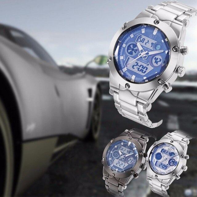 Мода Повседневная Спорт Бизнес Наручные Часы Dive Relogio Masculino Кварцевые Часы с Нержавеющей Стальной Ленты 100 М Водонепроницаемость