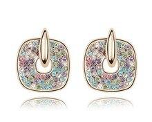 Austria Crystal Clockwise Fashion Earrings Made With Genuine Swarovski Elements Earrings For Women & Girls Party Jewelry Bijoux