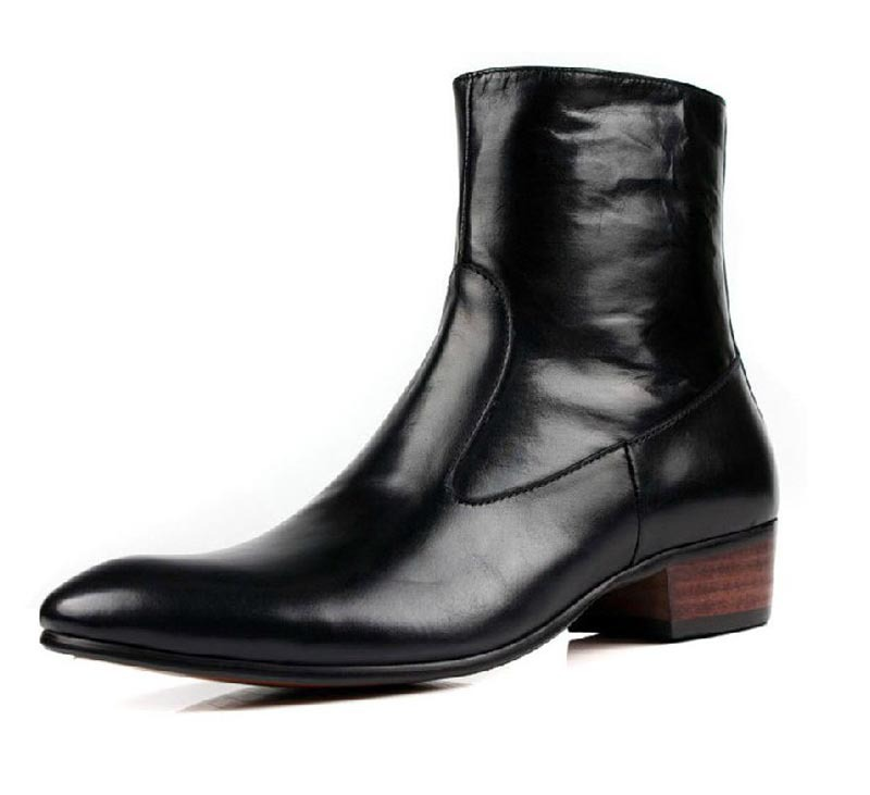 New Real Leather Men S Ankle Boots Formal Shoes Inside Zip