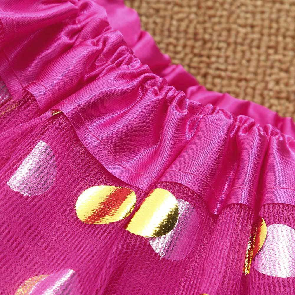 Милые высокое качество платье с фатином для маленьких девочек в горошек платье-пачка балетные юбки для девочек модные вечерние юбка hoofdband Prinses пачка Детские meisjes Regenboog Новый