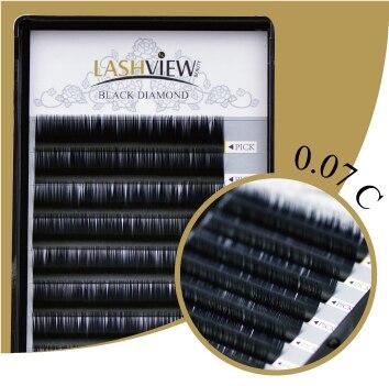 Hot Free shipping LashView C curl .07mm Size 9/11/13/15mm Lashes  Eyelash  Extension