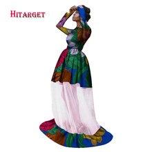 Bazin African Yarn Wedding Dresses for Women Sweet Autumn Vestidos Dashiki Wax Print Clothes WY1697
