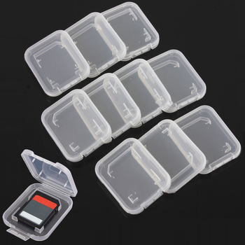 SD&HI 5pcs/lot Practical Transparent Plastic StandardMemory Card Case Holder Box Storage Drop Shipping