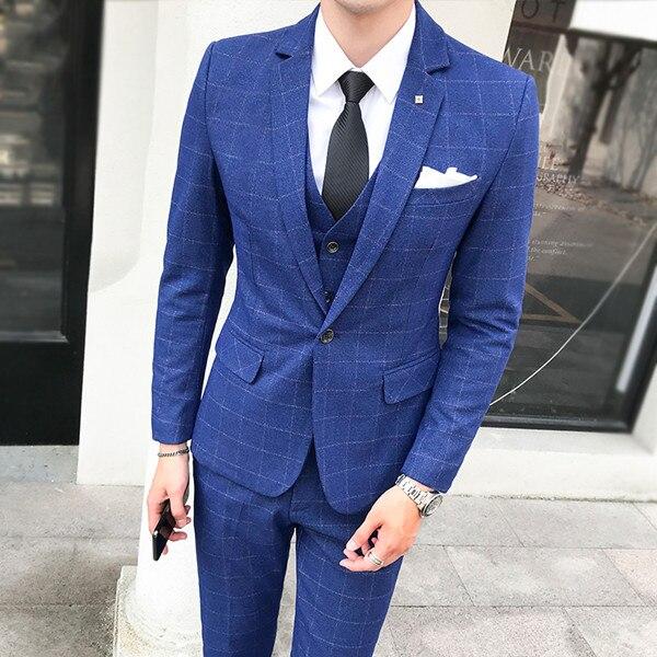 2018-Latest-Designs-Men-Suits-3-Piece-Plaid-Suit-Men-Plus-Size-Korean-Style-Dress-Slim (3)