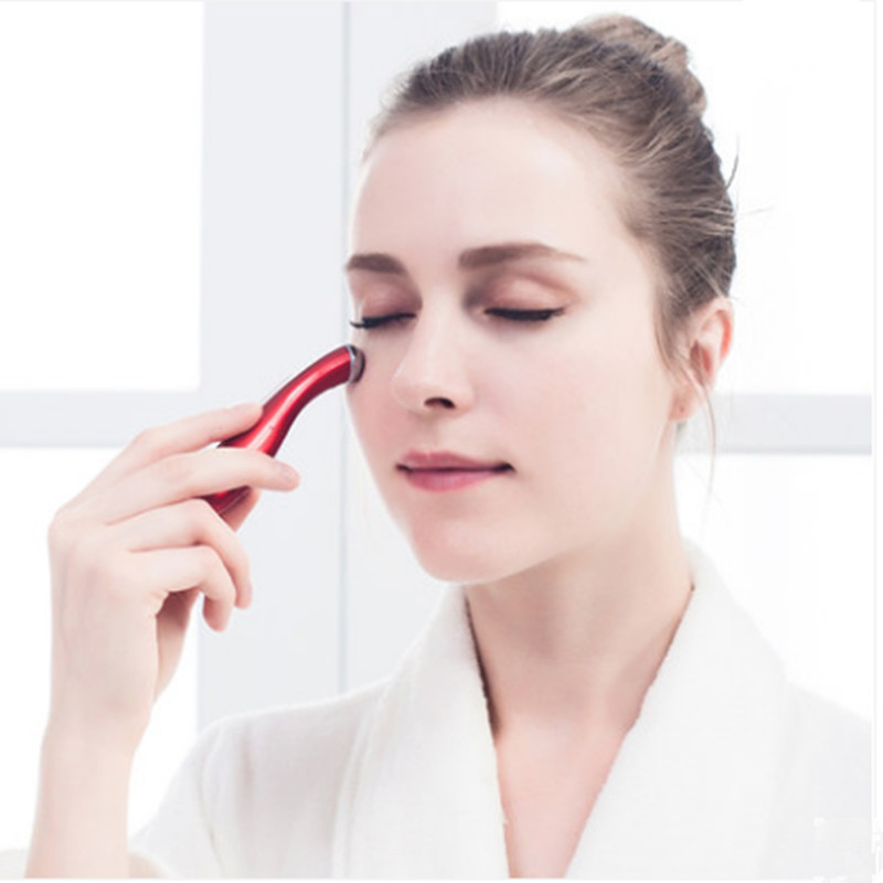 Mini Massage Device Pen Type Electric Eye Massager Massager Eyes Wrinkle Removing Pen Electronic Eye  Instrument Beauty Pen eye massager massage device eye mask essence absorber