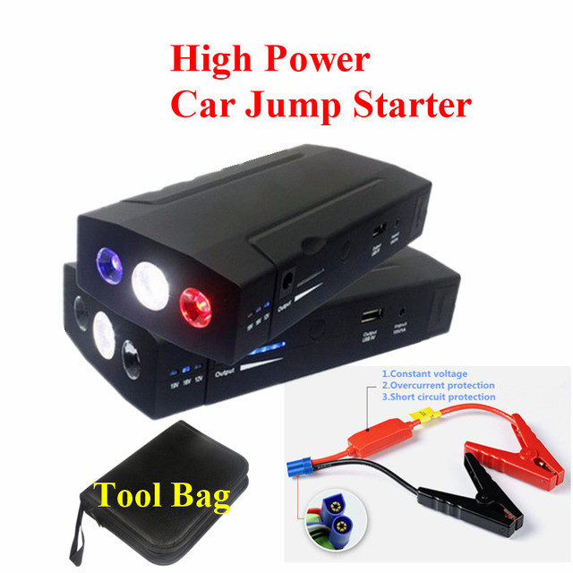 New Multi-Function 9900mAh 12V Car Jump Starter 2USB Power Bank SOS Lights Mini 400A Peak Car Battery Booster Starter Free Ship