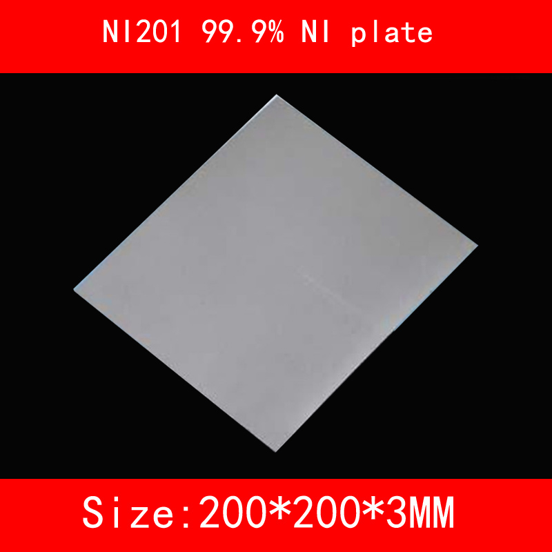 NI200 99.5% NI plate NI201 99.9% NI plate 200*200*1mm 2mm 3mm thick Electroplating / high purity nickel anode Corrosion resistan 100 grams 3 52 oz high purity 99 99% pure nickel ni metal for electroplating