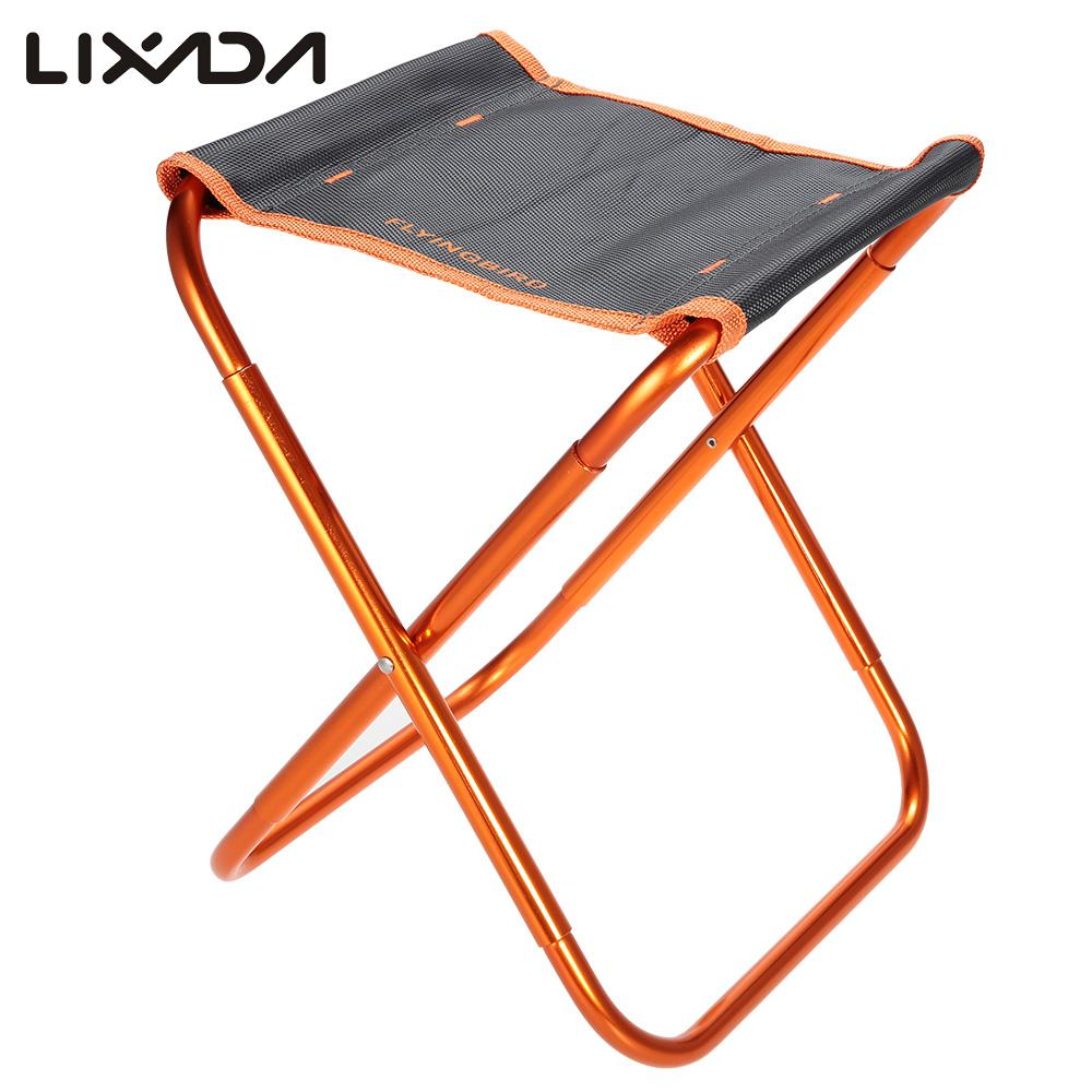 Lightweight camping chairs - Portable Folding Fishing Chair Seat Outdoor Lightweight Foldable Chair Camping Fishing Stool For Picnic Beach Chair