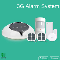 1 Set 3G WCDMA Wireless Alarm System Home Security Intruder Sensor Anti Burglar Support APP Door