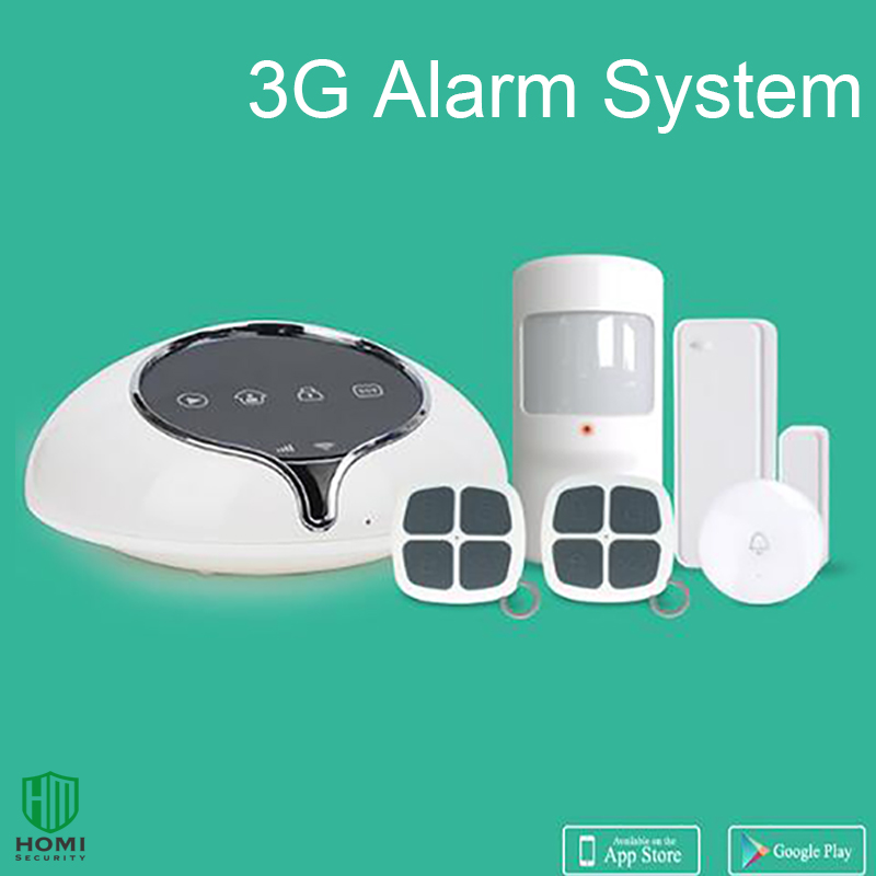 1 Set 3G WCDMA Wireless Alarm system Home security intruder sensor anti burglar support APP Door bell function Full band high quality hot sale 100db wireless alarm system burglar safely security window door home magnetic sensor best promotion