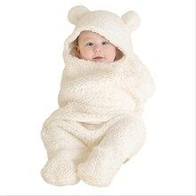 Детский спальный мешок конверт для новорожденного ребенка Зима Осень Пеленальное Одеяло милые спальные мешки твердые детские постельные принадлежности от 0 до 12 месяцев