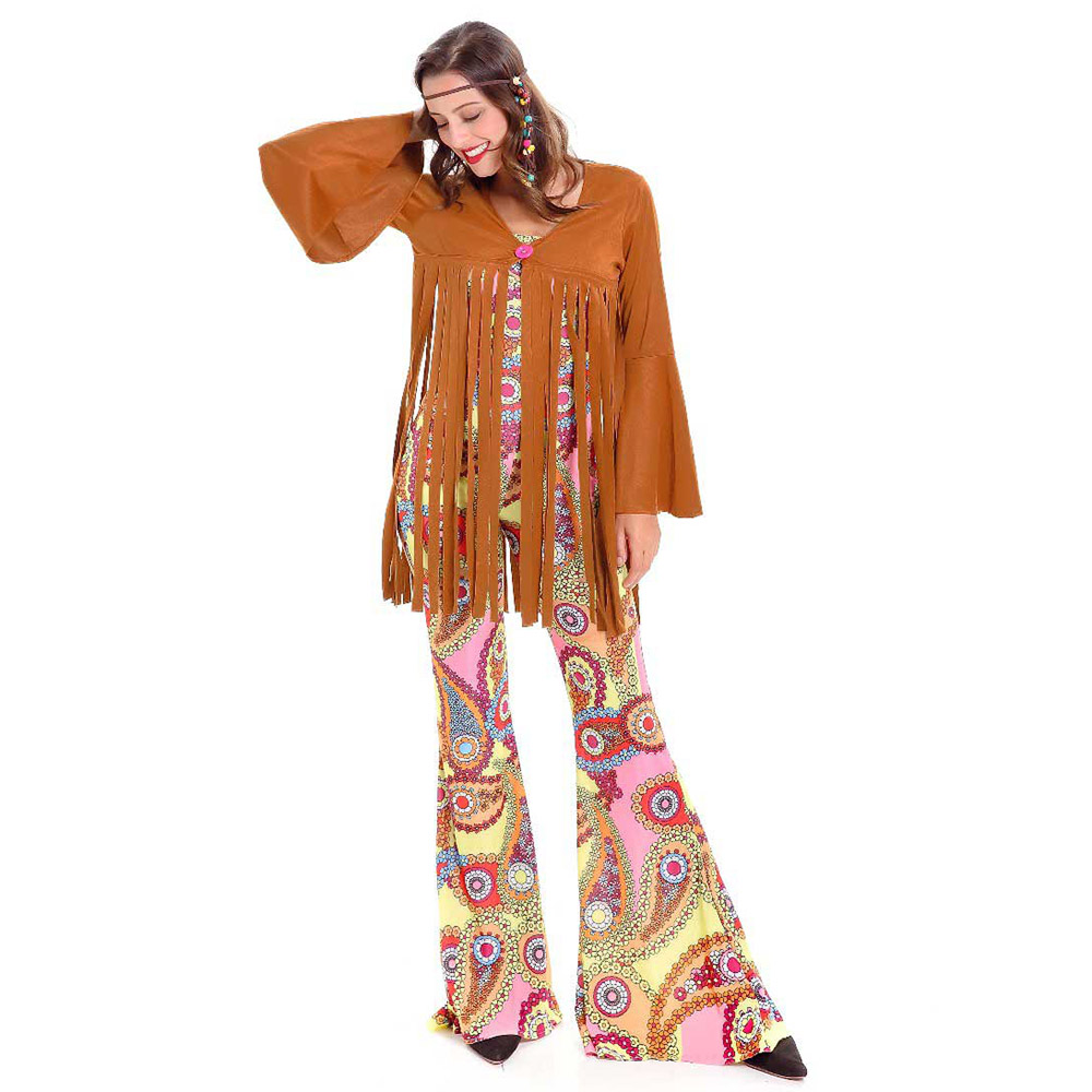 Ladies Hippie Costume Adult 60s 70s Tassel Hippy Fringed Costume Woodstock Sweetie Peace and Love Halloween Costume for Women-in Holidays Costumes from ...  sc 1 st  AliExpress.com & Ladies Hippie Costume Adult 60s 70s Tassel Hippy Fringed Costume ...