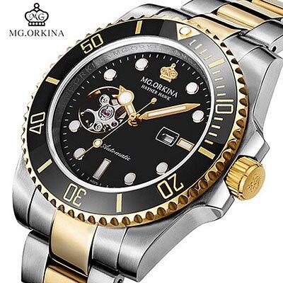 цена Top Brand Orkina Watch Men Luxury Classic Men Automtic Mechanical Watches Luminous Dial 316L Stainless Steel Watch reloj hombre онлайн в 2017 году