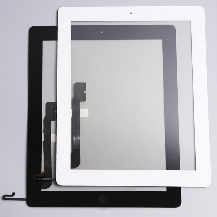 Prix pour 10 pcs/lot Nouveau Pour iPad 4 Écran Tactile Digitizer Assemblée Avec Bouton À La Maison et La Maison Flex Remplacement Du Câble Terminé Livraison DHL/EMS