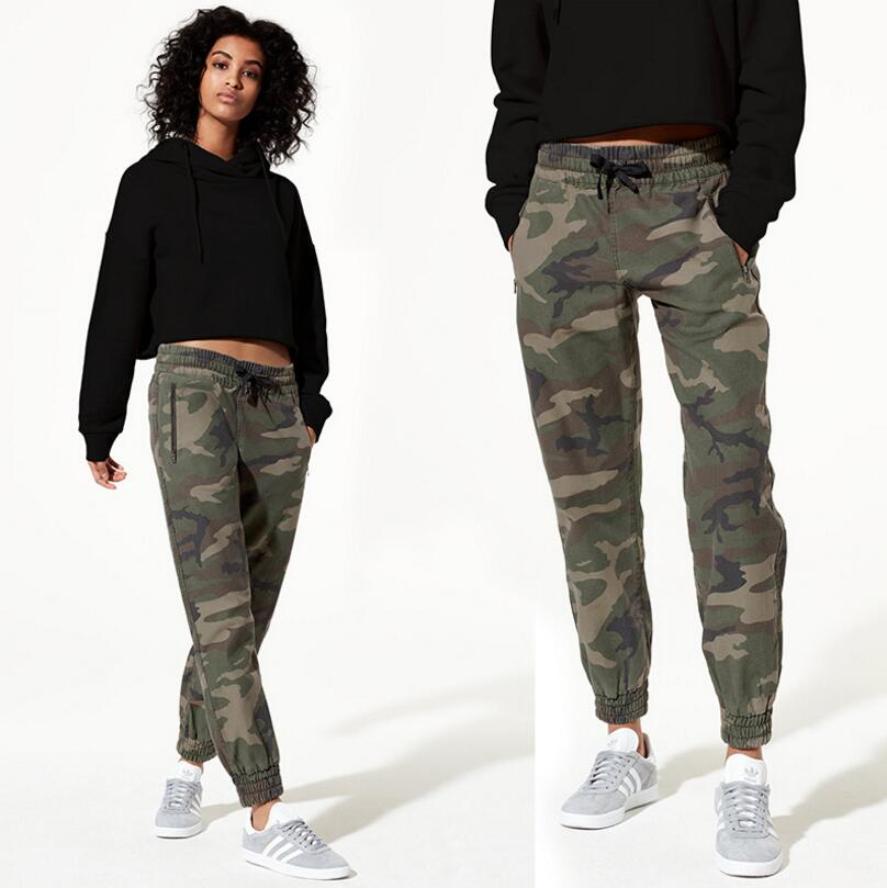 2019 New Style Womens Elastic Waist Camouflage Trousers Breathable Jogger Harem Pants Casual Sportswear Sweatpants For Female S1572 Nourishing The Kidneys Relieving Rheumatism