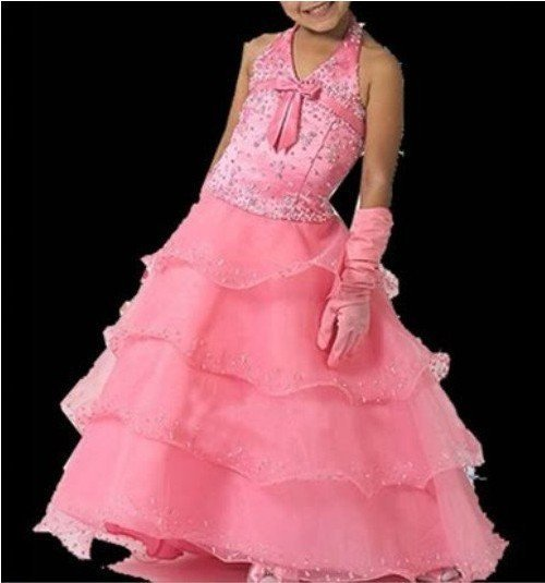 free shipping Hot Wholesale / Retail Flower Girl Pageant Wedding Dress Custom-size