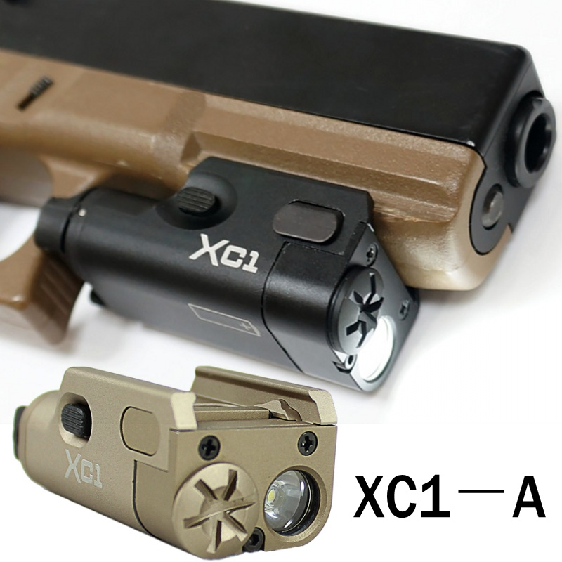 XC1 ULTRA Compact LED Pistol Light Mini Rifle Gun Flashlight Glock Tactical Military Airsoft Arma Hunting