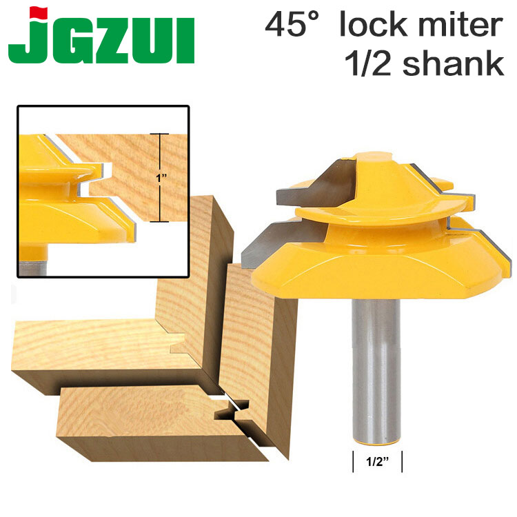 Large Lock Miter Router Bit - 45 Degree - 1