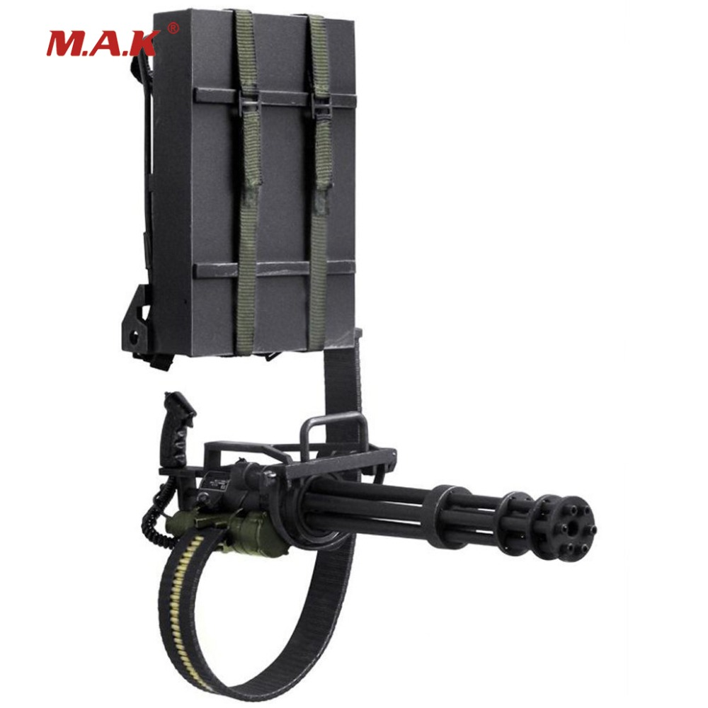 1/6 Scale Mini Terminator Gun Model M134 Heavy Machine Minigun Gatling 8018 Weapon Model action Figure Toy for Collections 1 6 scale rifle gun model for 12 inches action figure accessories collections x80028 m700pss x80026 psg1