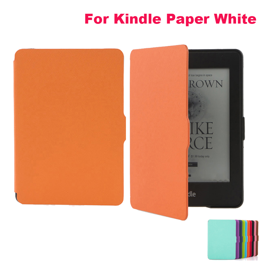 Hot Sale For Amazon Kindle Paperwhite Case Ultra Slim Premium Protective Shell Leather Cover For Amazon Kindle Paperwhite Case cy for amazon kindle paperwhite 1 2 3 2013 2014 2015 model 6 ebook case ultra slim premium protective shell leather cover