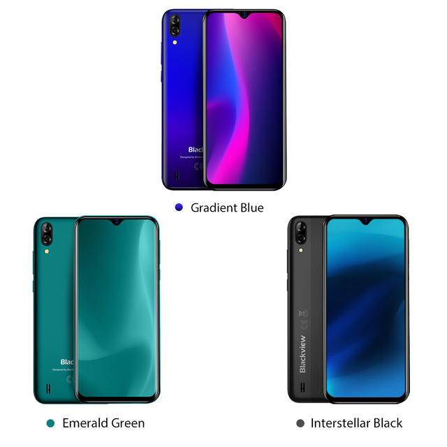 Blackview A60 Smartphone Quad Core Android 8.1 4080mAh Cellphone 1GB+16GB 6.1 inch 19.2:9 Screen Dual Camera 3G Mobile Phone 1