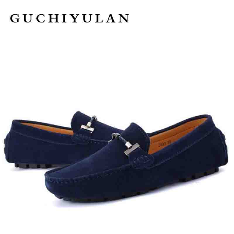 Autumn Male Genuine leather Loafers Slip-On Flats lighten-end Driving shoes Men Flat shoes Men Breathable Soft Moccasins Men's nis breathable mesh flat men shoes casual summer slip on shoes men patchwork stitching loafers sewing soft sole pu leather flats
