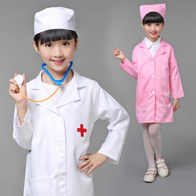 children halloween cosplay costume kids doctor costume nurse uniform girls with hat mask - Kids Doctor Halloween Costume