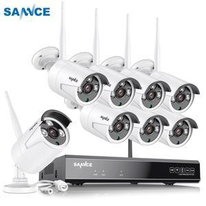 Image 1 - Беспроводная инфракрасная камера видеонаблюдения SANNCE, 8 каналов, 1080P, HD NVR, 6/8 шт., 2 МП, водонепроницаемая, Wi Fi