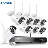 SANNCE 8CH CCTV Системы Беспроводной 1080 P HD NVR 4/6/8 шт. 1.3MP наружняя инфракрасная камера Водонепроницаемый Wi-Fi безопасности Системы комплект видеонаб...