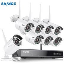 SANNCE 8CH CCTV System Drahtlose 1080P HD NVR 4/6/8 PCS 2MP IR Außen Kamera Wasserdichte Wifi Sicherheit System Überwachung kit