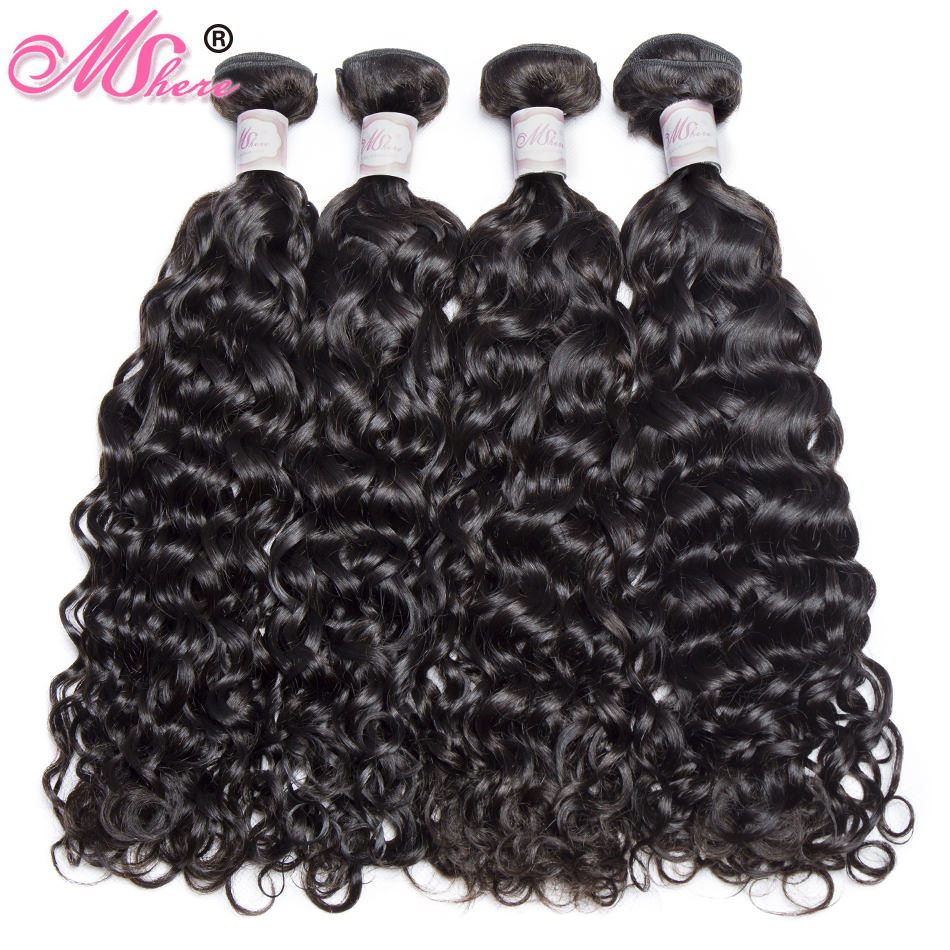 Human Hair Bundles Water Wave Hair Weave Bundles Brazilian Remy Hair Extensions Mshere Hair Products Natural