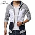 Seven Joe.new fashion Sweatshirt men hit color men hoodies hip hop side zipper mensports suit slim sportsware tracksuit