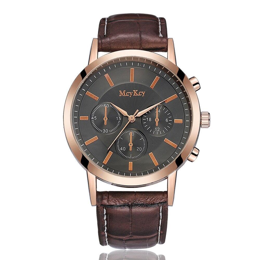 2018 Zegarki Meskie Top Brand Watches Men Luxury Famous Wristwatch Male Quartz Watch Leather Casual Clock Relogio Masculino