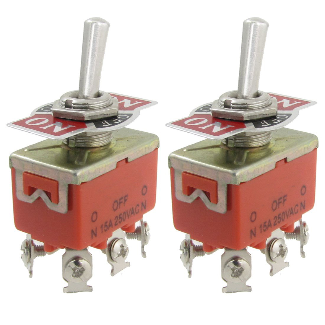 2 Pcs Ac 250v 15a Amps On/off/on 3 Position Dpdt Toggle Switch Big Clearance Sale Lighting Accessories Switches