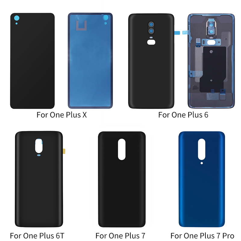 Netcosy For <font><b>Oneplus</b></font> X <font><b>E1001</b></font> 6 A6000 6T A6010 7 7 Pro Back Door <font><b>Case</b></font> Battery Housing Rear Glass Cover Replacement Part image