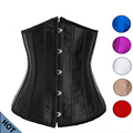 Woman Sexy Cupless Underbust Corset S-6XL Plus Size Waist Trainer Corsets Corselet Top Kopcet Black/Red/White/Pink/Purple Color